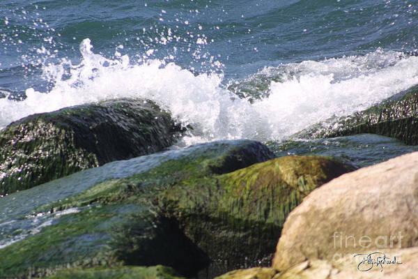 Splashing Rocks Art Print