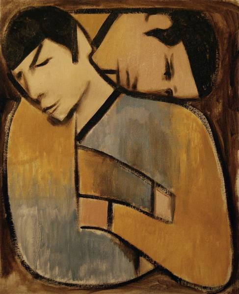 Spock Captan Kirk Cubism Art Print