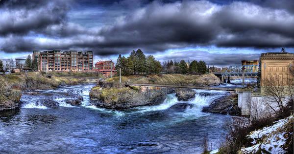 Photograph - Spokane Falls February 2013 by Lee Santa