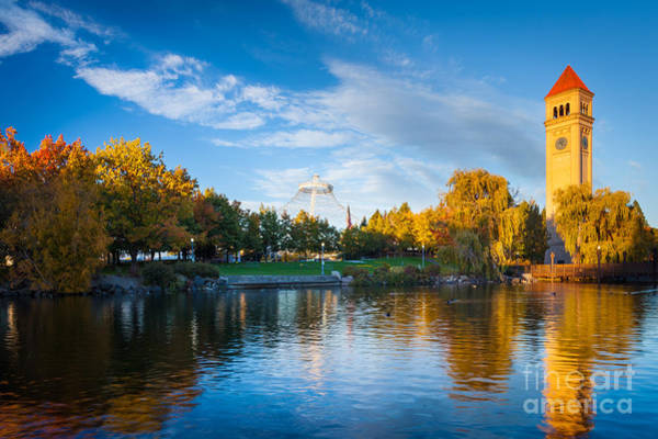 Spokane Photograph - Spokane Reflections by Inge Johnsson