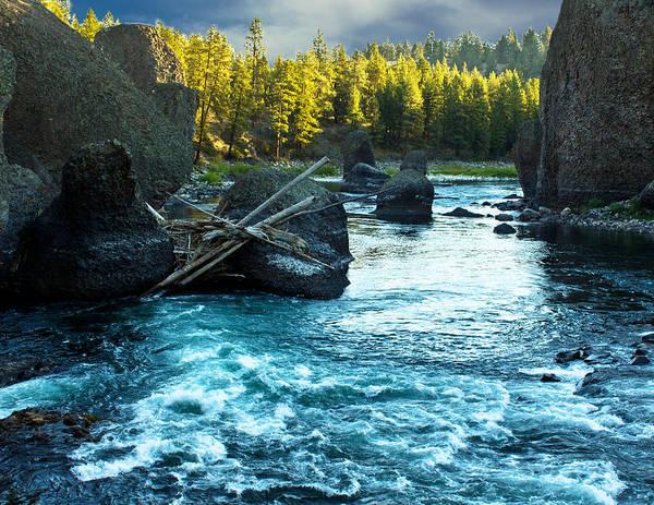 Spokane Digital Art - Spokane River Morning by Georgianne Giese