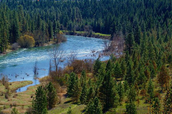 Photograph - Spokane River Spring 2014 by Ben Upham III