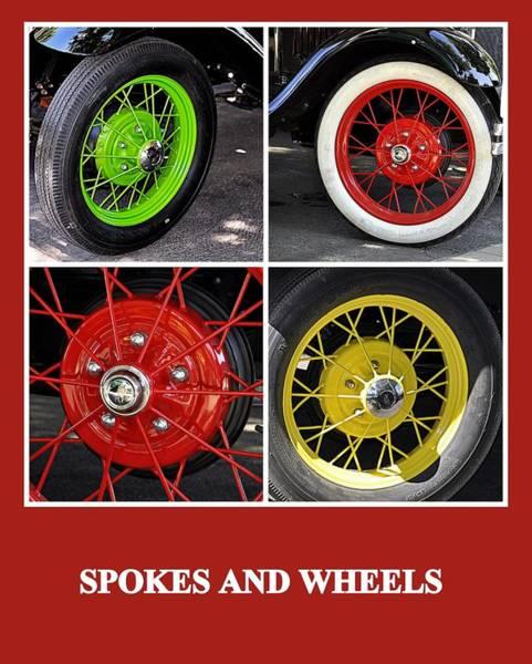Photograph - Spokes And Wheels by AJ  Schibig