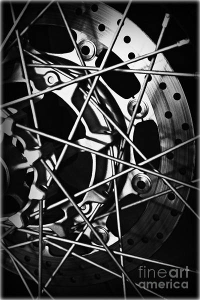 Daguerrotype Photograph - Spokes by Clare Bevan