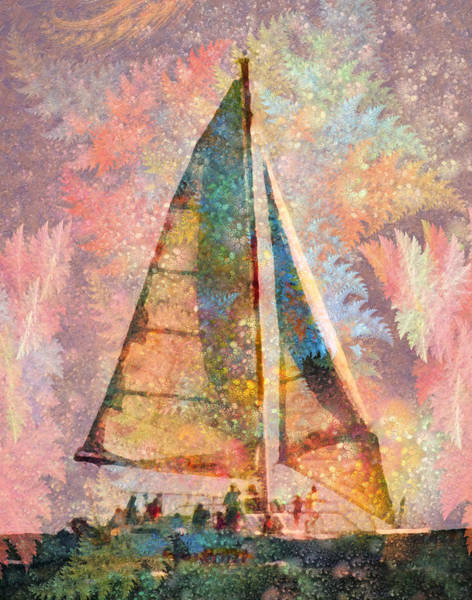 Wall Art - Mixed Media - Spontaneity Paradise Nautical Visionary  by Betsy Knapp