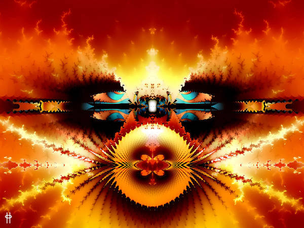 Fractal Landscape Digital Art - Starship Hades Nc 666 by Jim Pavelle