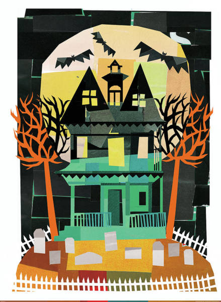 Haunted Wall Art - Painting - Spooks II by Michael Mullan