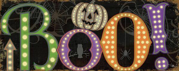 Boo Wall Art - Painting - Spooky II Border by Pela Studio