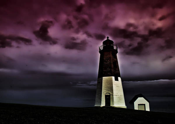 Photograph - Spooky Lighthouse by Nancy De Flon