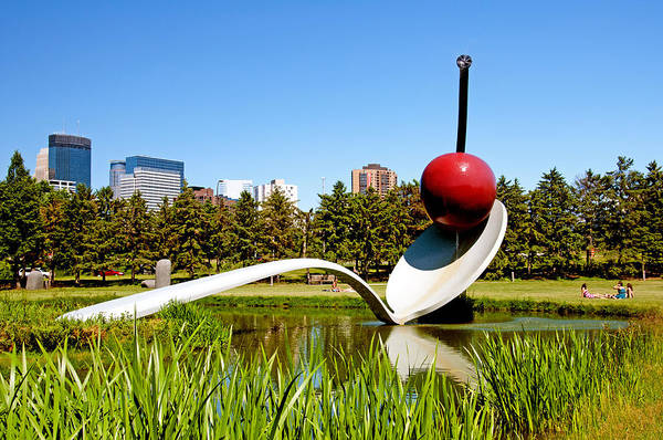 Wall Art - Photograph - Spoonbridge And Cherry Sculpture by Lonnie Paulson