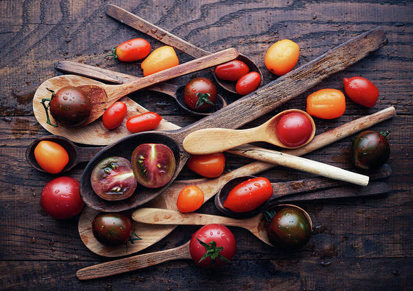 Wall Art - Photograph - Spoons&tomatoes by Aleksandrova Karina