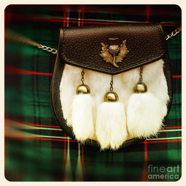 Pouch Wall Art - Photograph - Sporran Old Photo by Jane Rix