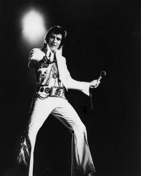 Soul Photograph - Spotlight Behind Elvis Presley by Retro Images Archive