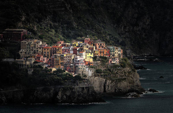 Wall Art - Photograph - Spotlighted Manarola by Hans-wolfgang Hawerkamp