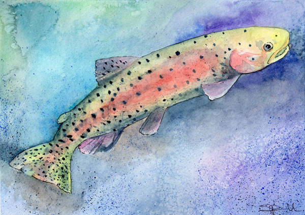 Painting - Spotted Trout by Sean Parnell