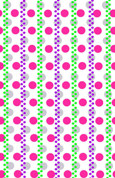 Checker Digital Art - Spotty Stripe by Louisa Hereford