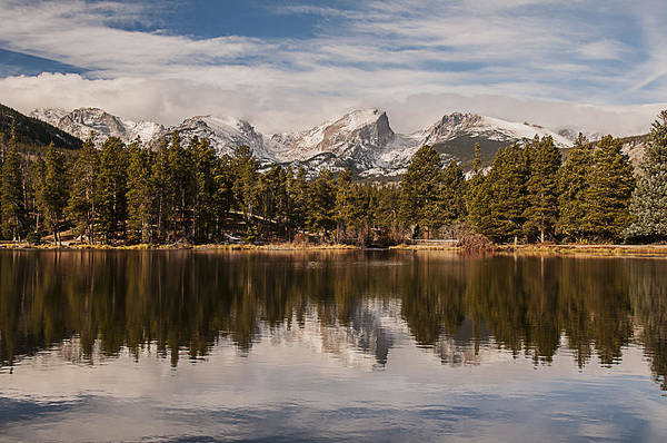 Photograph - Sprague Lake Reflection In The Morning by Lee Kirchhevel
