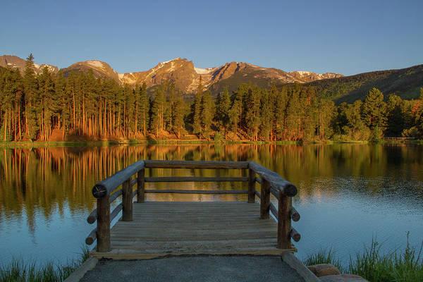 Continental Divide Photograph - Sprague Lake Sunrise by John Kieffer