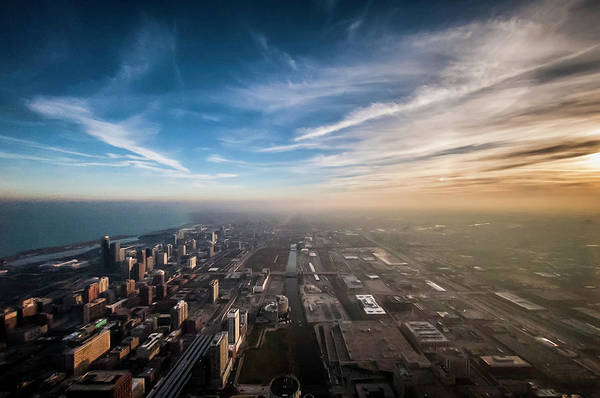 Sprawling City Looking South Art Print by By Ken Ilio