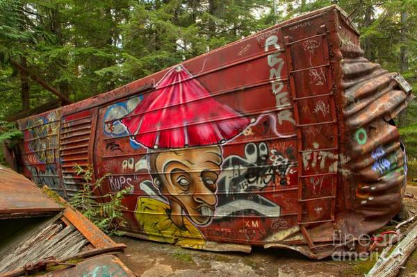 Photograph - Sprawling Whistler Train Wreck Wreckage by Adam Jewell
