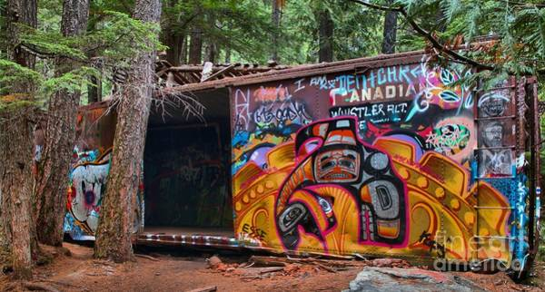 Photograph - Spray Painted Box Car Train Wreck by Adam Jewell