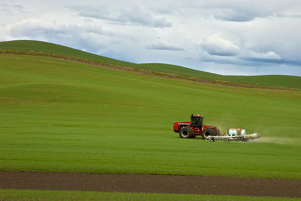 Photograph - Spraying The Fields by Mary Lee Dereske
