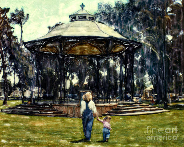 Spreckles Gazebo Art Print