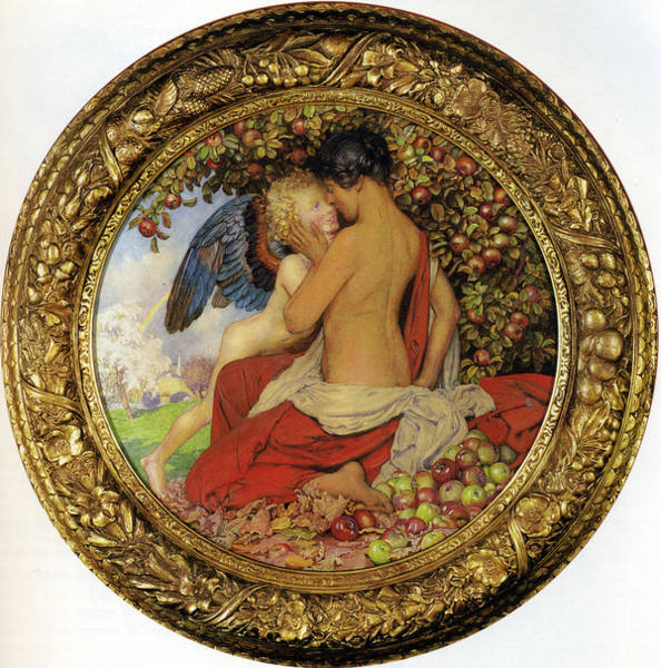 Orchard Digital Art - Spring And Autumn by Eleanor Fortescue Brickdale