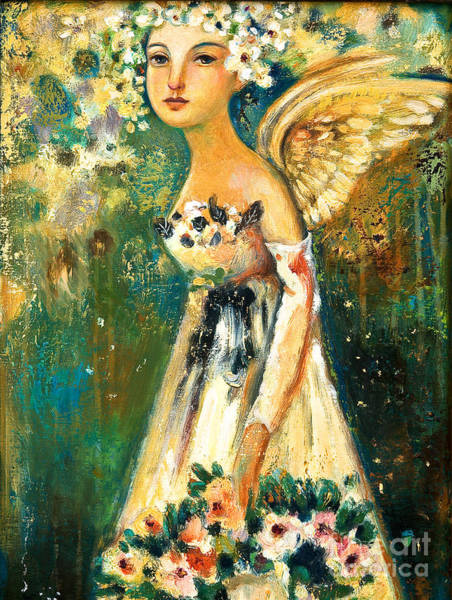 Painting - Spring Angel  by Shijun Munns