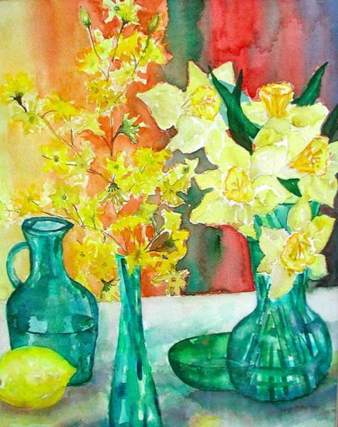 Forsythia Painting - Spring by Anna Ruzsan