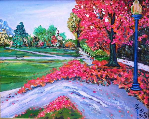 Painting - Spring At The Common by Ray Khalife
