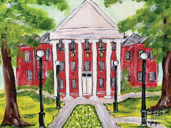 Rebel Painting - Spring At The Ole Miss Lyceum  by Tay Morgan