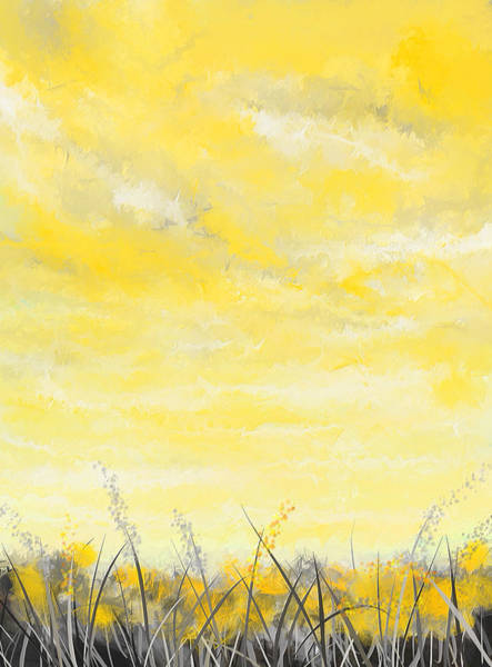 Painting - Spring Blooms - Yellow And Gray Art by Lourry Legarde
