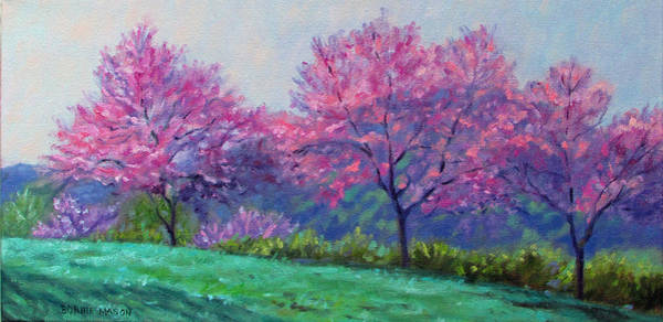 Wall Art - Painting - Spring Blossoms On Mill Mountain by Bonnie Mason
