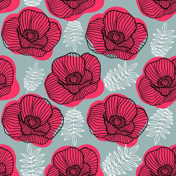 Digital Art - Spring Bright Seamless Floral Pattern by Ekaterina Bedoeva