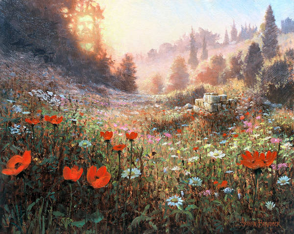 Painting - Spring Carpet Mt Carmel by Graham Braddock