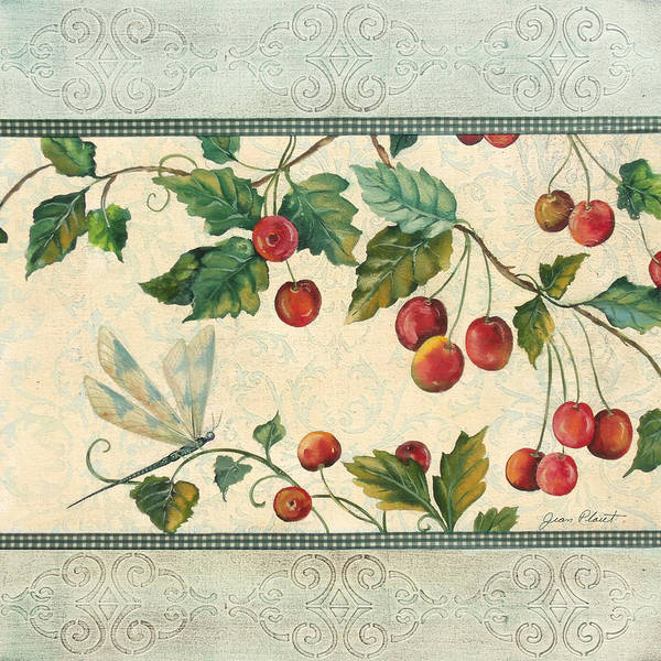 Emboss Wall Art - Painting - Spring Cherries-2 by Jean Plout