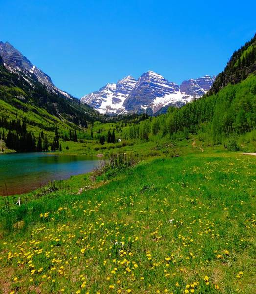 Maroon Bells Photograph - Spring Colors In Maroon Bells by Dan Sproul