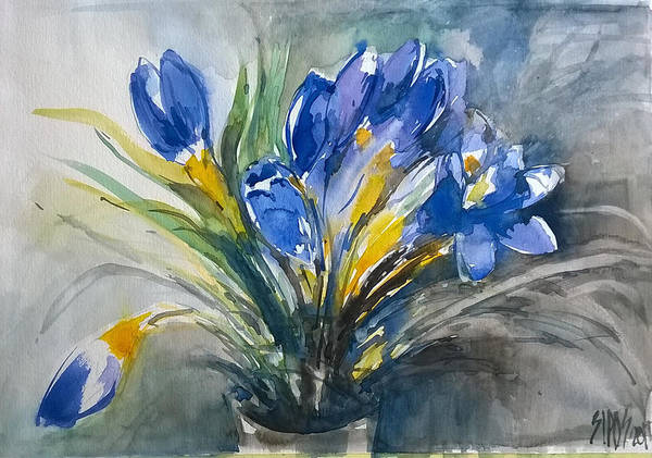 Painting - Spring Crocus by Lorand Sipos