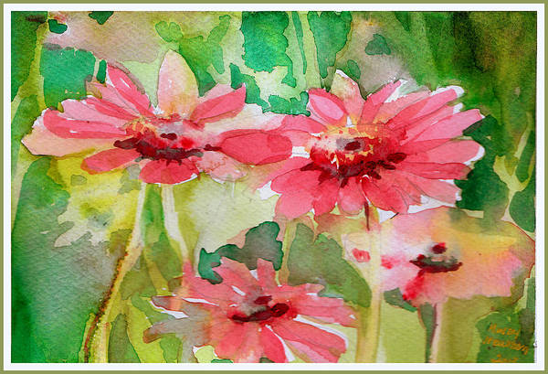 Wild Flowers Drawing - Spring Daisies In The Pink by Mindy Newman