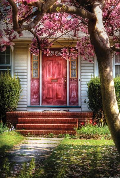 Photograph - Spring - Door - Westfield Nj - Pink by Mike Savad