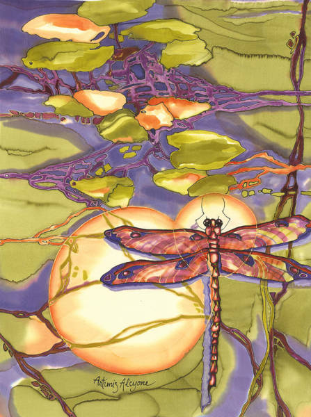 Painting - Spring Dragonfly by Artimis Alcyone