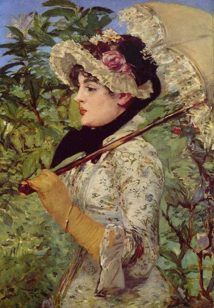Wall Art - Painting - Spring by Edouard Manet