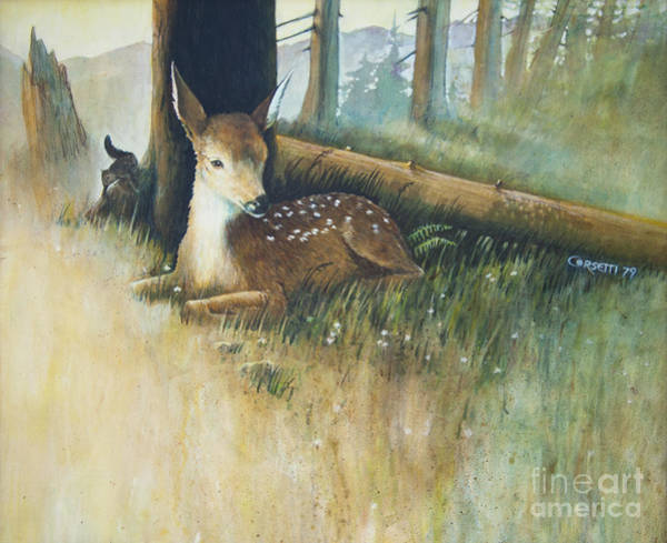 Painting - Spring Fawn by Rob Corsetti