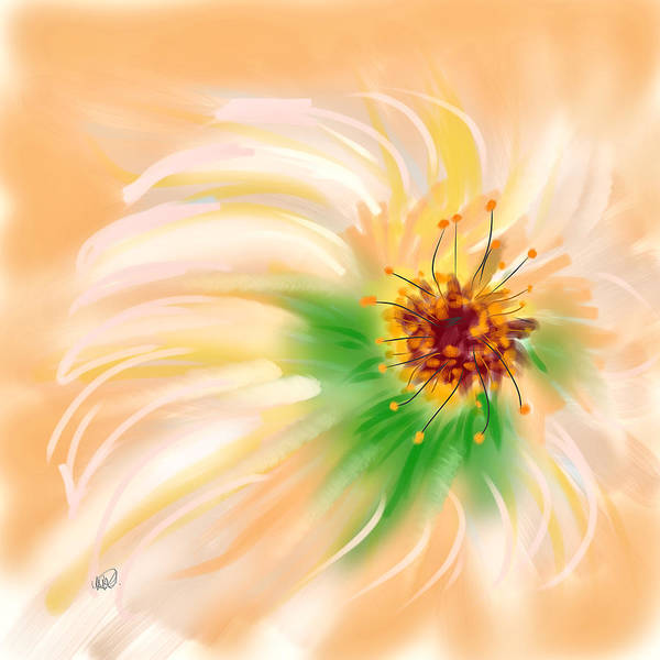 Finger Paint Painting - Spring Flower by Angela Stanton