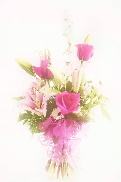 Photograph - Spring Flower Pastel Paint Arrangement In Color 3176.02 by M K Miller