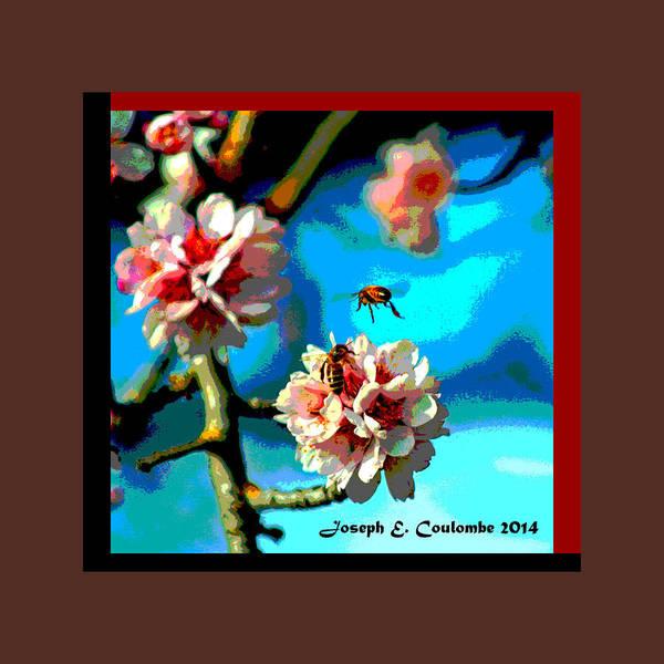 Digital Art - Spring Flowers N Bees by Joseph Coulombe