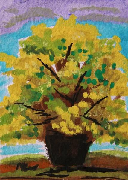Forsythia Painting - Spring Forsythia by Mary Carol Williams