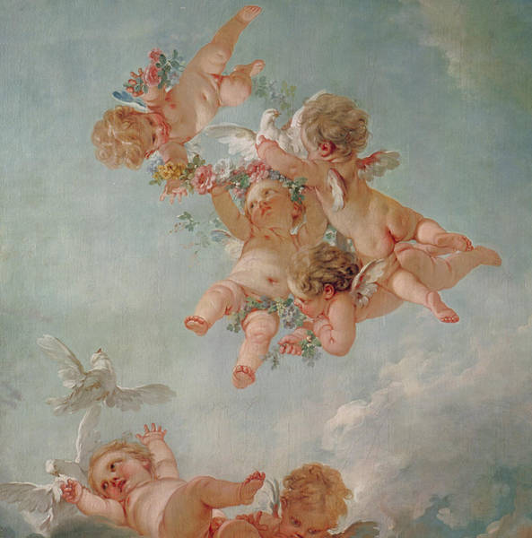 Toddler Painting - Spring by Francois Boucher