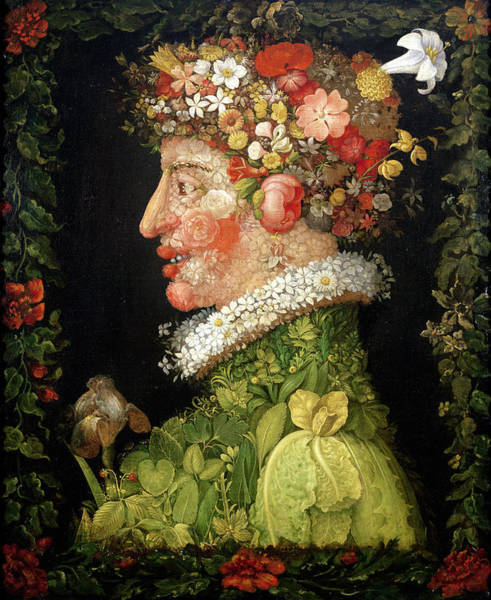 Foliage Painting - Spring, From A Series Depicting The Four Seasons by Giuseppe Arcimboldo